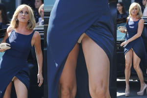 Sonja Morgan upskirt - when she flashed her nude underwear in New York City on May 14