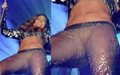 Jennifer Lopez see-through pussy lips