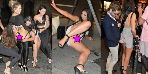 Chloe Ferry Pantie Upskirt on Drunk Night Out