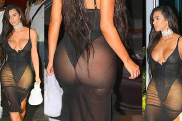 Kim Kardashian nackte Muschi