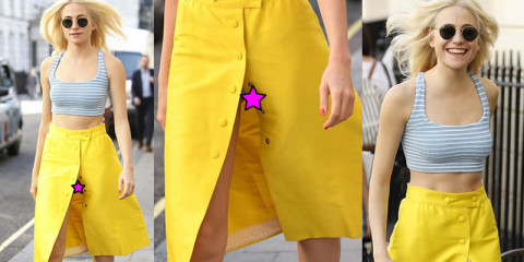 Pixie Lott Upskirt – Out and About in London