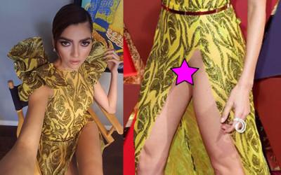 Blanca Blanco No Panty Upskirt – 2017 Vanity Fair Oscar Party