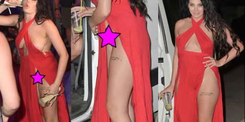 Chloe Ferry Upskirt – Sexy red dress agia napa cyprus