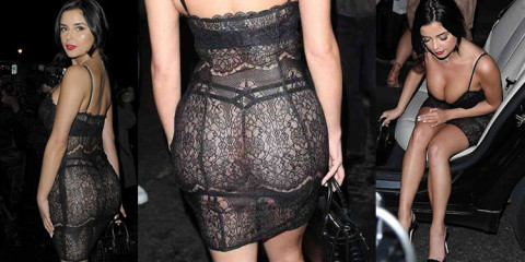 Demi Rose See-Through Candids in London