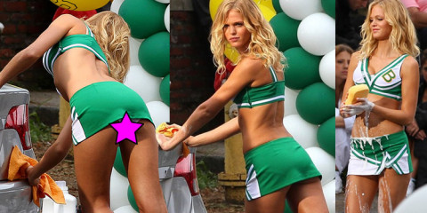 "Erin Heatherton Upskirt Ass – Cheerleader car wash scene for ""grown ups"""