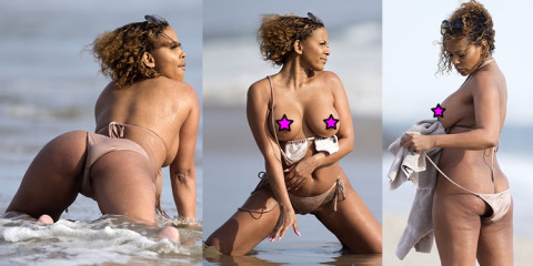 Sundy Carter – Topless Photoshoot On the Beach in Malibu