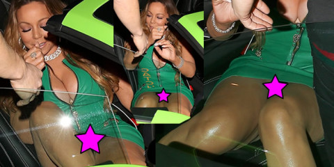 Mariah Carey Black Panties Upskirt Candids in LA