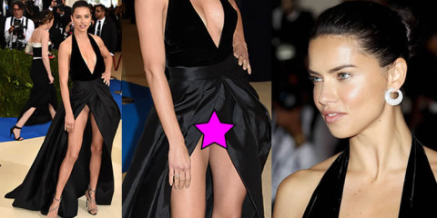 Adriana Lima Upskirt at 2017 MET Costume Institute Gala in NYC