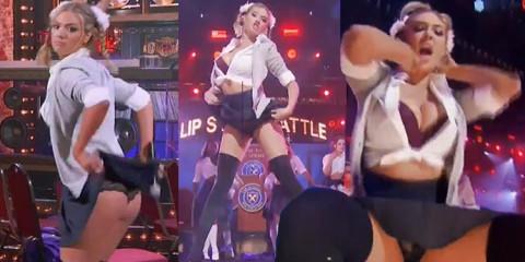 Kate Upton – Upskirt and Ass Flash (Lip Sync Battle)