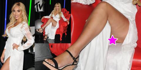 Farah Abraham upskirt – MTV's Single AF TV Show Photocall