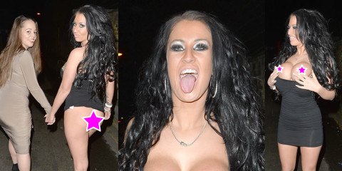 Becky Constantinou's Upskirt Ass & Topless