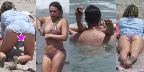 Hilary Duff Upskirt Ass – Bikini in Malibu