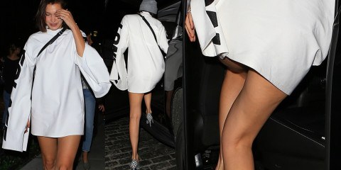 Bella Hadid Little Upskirt Ass – Out in NYC