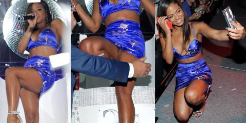 Christina Milian Upskirt & Legs – Foxwoods Resort Casino 25Th Anniversary Gala