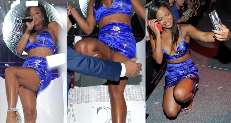 Christina Milian Upskirt & Legs - Foxwoods Resort Casino 25Th Anniversary Gala