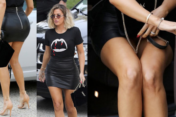 Khloe Kardahian Upskirt - Candids in Hollywood