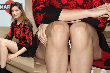 Laetitia Casta Upskirt - presentation of the film una donna come amica in milan