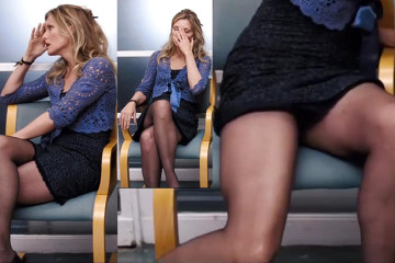 Michelle Pfeiffer in Tights Uppie Upskirt  - I Could Never Be Your Woman