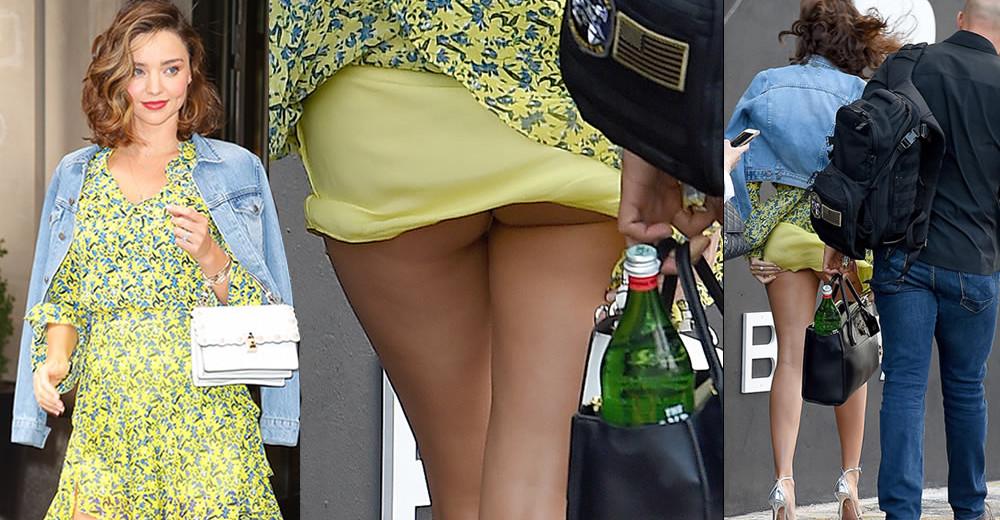 Miranda Kerr flashes her butt upskirt in New York City, 09152017
