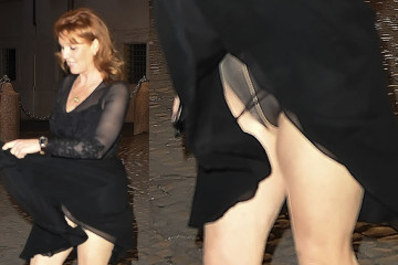 Sarah Ferguson Upskirt on the Roma