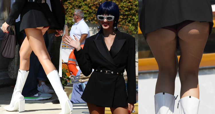 Sita Abellan has a wardrobe malfunction at the 74th Venice Film Festival, 09052017