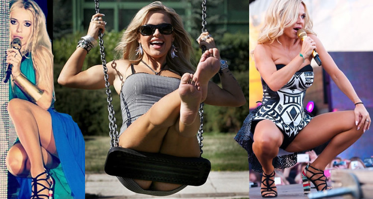 Dorota Rabczewska in hot upskirt pictures