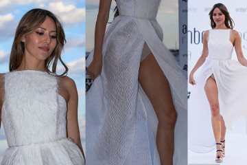 Jessica Michibata Upskirt - Amber Lounge Fashion Show in Monaco