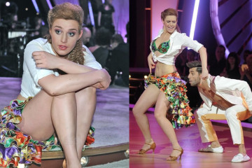 Julia Kaminska upskirt & Legs photos