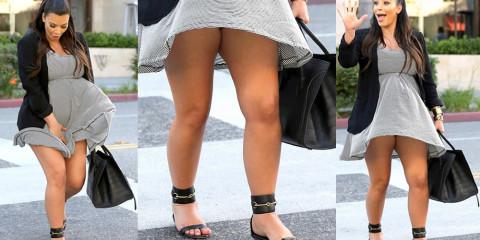 Kim Kardashian upskirt – Marilyn Monroe fill in the blank
