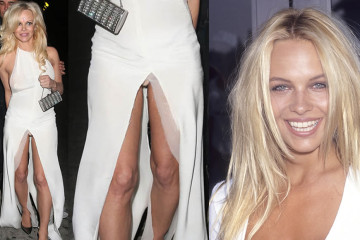 Pamela Anderson in hot upskirt