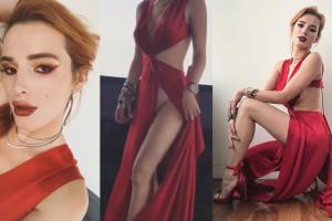 Bella Thorne Upskirt -Braless and Pantyless