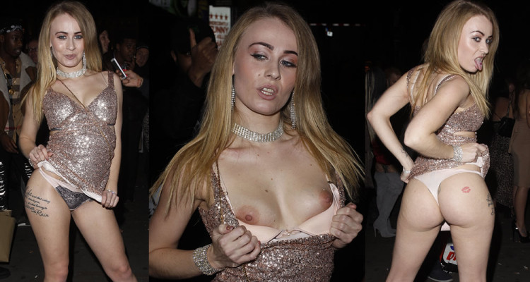 Carmel Anderson  Flashes Her Tits and Ass - Paul Raymond Awards 2017 Gala in London, 110917