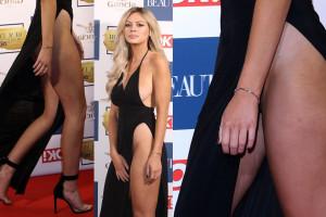 Danielle Sellers upskirt - Magazine Beauty Awards in London