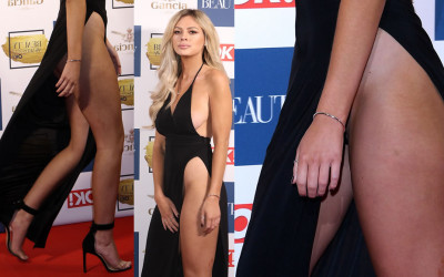 Danielle Sellers upskirt – Magazine Beauty Awards in London