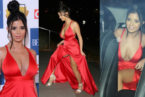 Demi Rose Upskirt - Attends The 2017 Beauty Awards in London