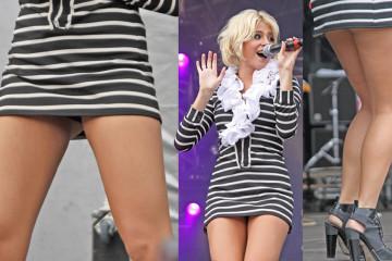 Pixie Lott Upskirt - Live Performs in London.31.07.11