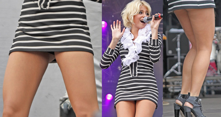 Pixie Lott Upskirt - Live Performs in London.31.07.11