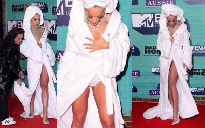 Rita Ora Upskirt – MTV Europe Music Awards in London