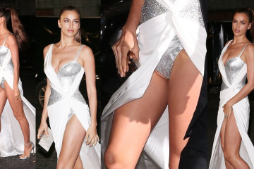 Irina Shayk Upskirt - The Fashion Awards 2017