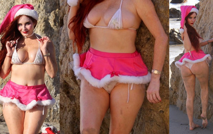 Phoebe Price Upskirt - hits the beach in Malibu