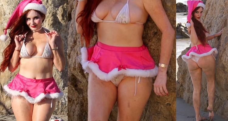 Phoebe Price Upskirt - hits the beach in Malibu