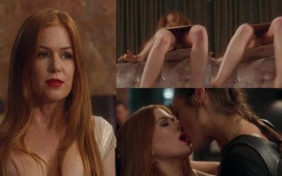 "Isla Fisher hot upskirt – ""Keeping Up with the Joneses"" movie scene"