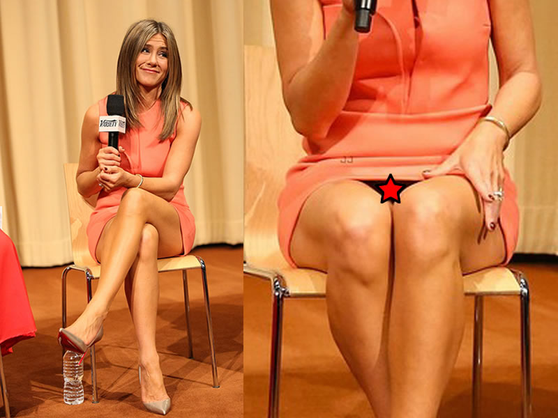 Jennifer Aniston Public Hair Upskirt